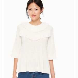 NEW Kate Spade fringe pullover sweater